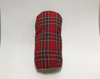 Scottish Red and Green Tartan Golf Club Cover