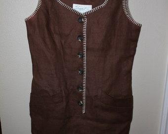 Santa Fe Linen Dress with pockets Sz 10
