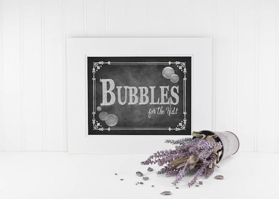 Chalkboard Wedding  Kids Bubble Favor Sign, Bubbles Sign, Bubbles for the Kids, Bubbles Wedding Signs, Rustic Wedding Sign, Wedding Favors