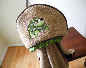 turtle hooded towel toddler boy bath towel