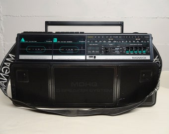 Magnavox D8300 Dual Stereo Radio Cassette Recorder Boombox - Free Shipping