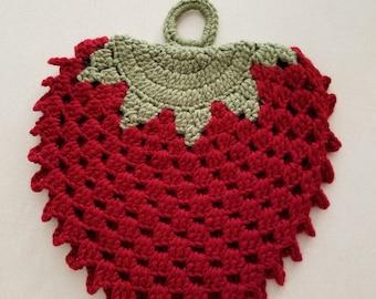 Crochet strawberry