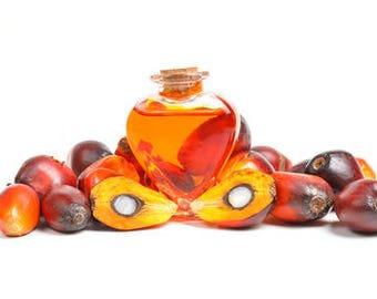 FREE SHIPPING Organic Palm Kernal or Palm Fruit oil samples-1,2,4,6,8,16,32,48,64,80 oz