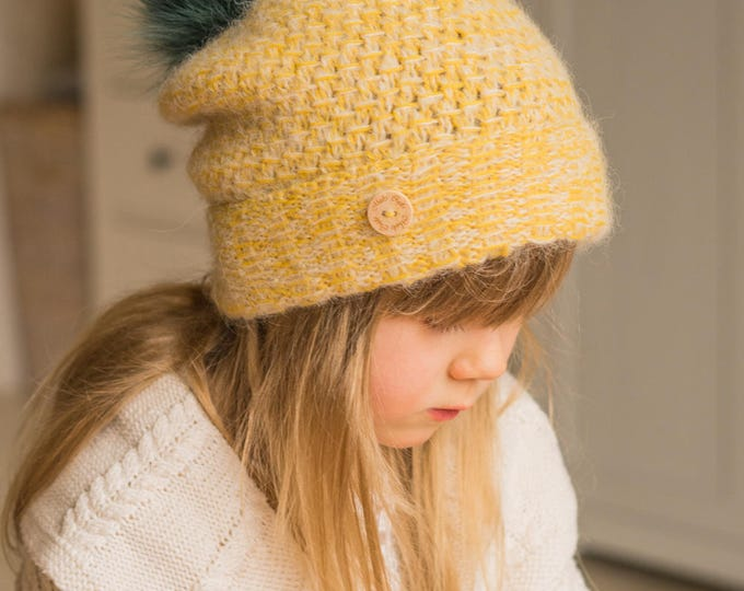 KNITTING PATTERN slouch winter hat Tabatha (baby, toddler, child, woman sizes)
