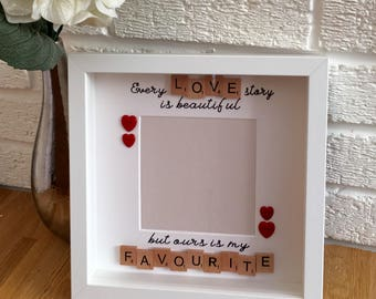 Every Love Story Is Beautiful frame, Valentines Gift, Romantic gift, Engagement Gift, Gifts for couples, gifts for him, gifts for her