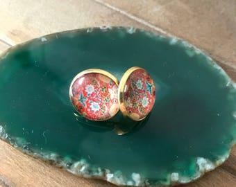 Exotic earrings , glass earrings , stud earrings