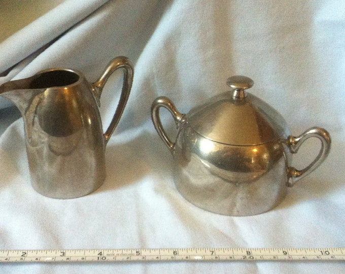 Antique hotel tableware sugar bowl milk jug Art deco f. W. & J.