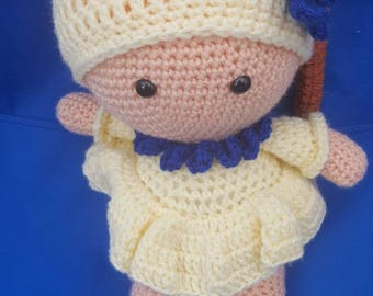 Big head crochet doll