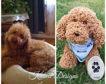 Miky the poodle, crochet dog, crochet amigurumi, handmade dog,crochet dog pattern, amigurumi pattern