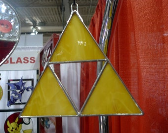 Zelda inspired stained glass Triforce