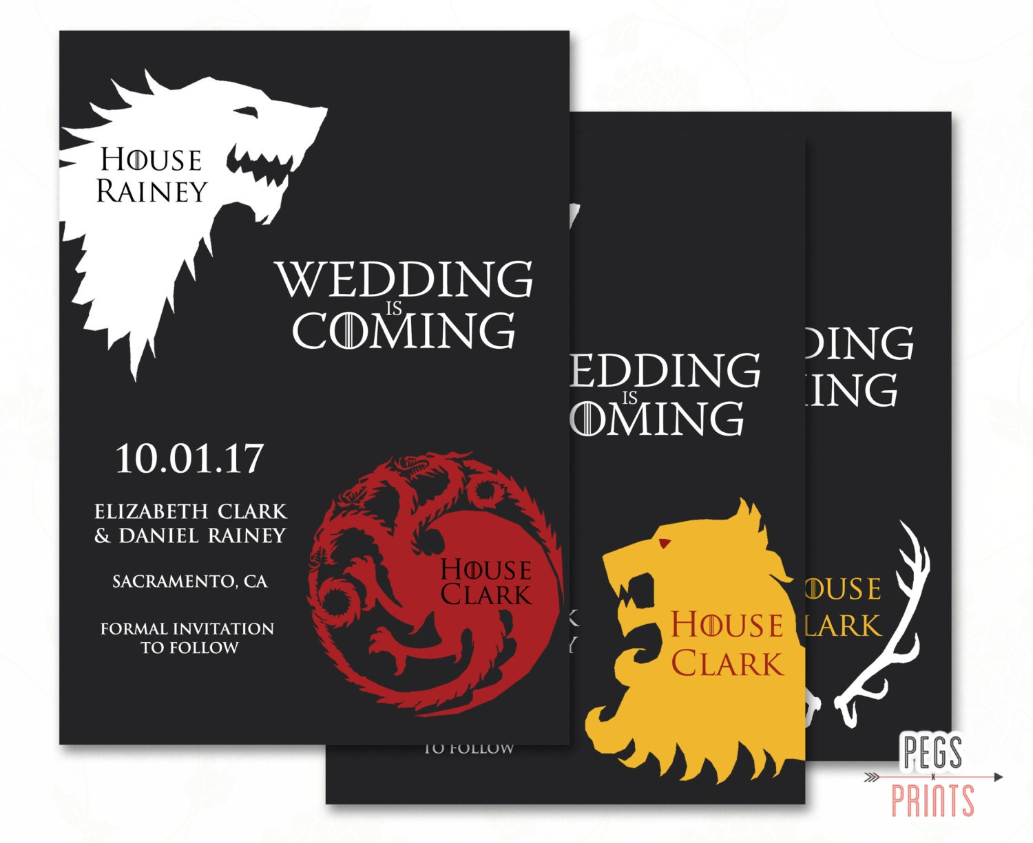Geek Save the Date Game of Thrones Save the Date Printable