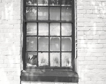 Windowscape photo - West Side Story - Fine art travel photography - Dallas vignette - Black and White - Urban Wall Art