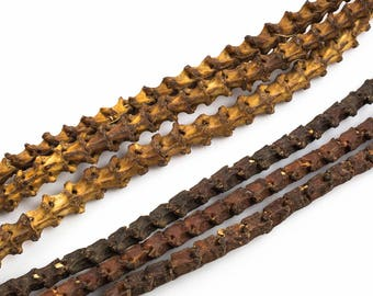 Natural Snake Vertebrae, 9-10mm- 2 colors- 24 inches long