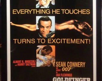 James Bond: Goldfinger - Signed Movie Poster