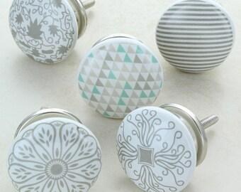 Success Ceramic Door Knobs Cupboard Drawer Door Handles & Door knobs   Etsy