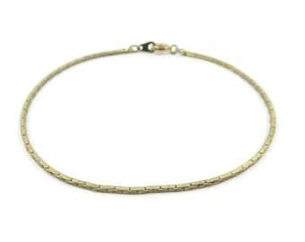 Vintage, Chain Bracelet, Thin, Gold Tone