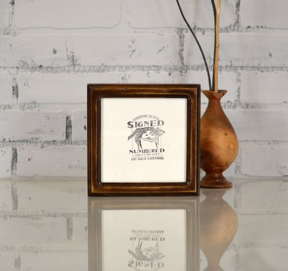 6x6 inch Square Picture Frame in Double Cove Style and in