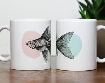 Fish Cup with color circles