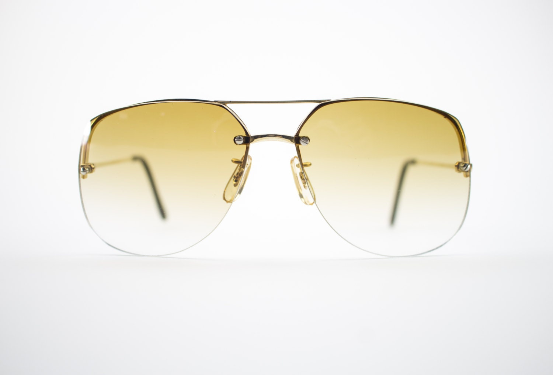 Vintage 70er Jahre Sonnenbrillen Gold Pilotenbrille 1970er