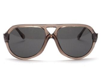 Vintage 1970's Safety Glasses - Dark Grey