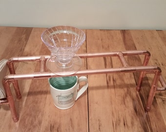 Pour over stand for Hario V60. Handmade Copper drip stand. Will hold up to 4 drip cones