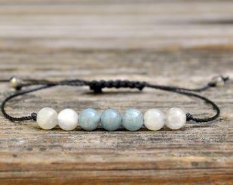 Scorpio Energy, Aquamarine Bracelet, Moonstone Bracelet, Scorpio Zodiac, Energy Bracelet, Cleansing, Serenity, Nurturing, New Beginnings