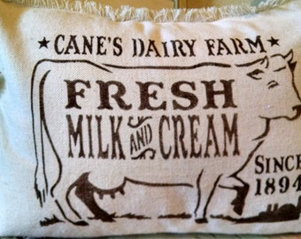 "12""x16"" Cane's Dairy Farm Recycled Cotton Canvas Pillow Cover"
