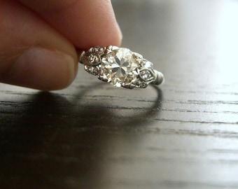 Platinum Custom Recreation Design 1920s Vintage Ring