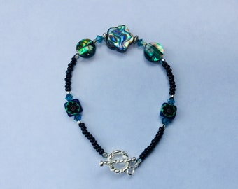 Tropical Teal Abalone bracelet