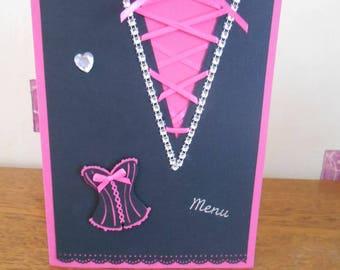 Rectangular drop style corset and rhinestones