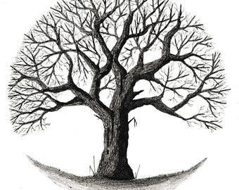 Winter tree, 4/4 series