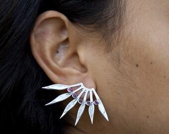 asymetric tourmaline earing