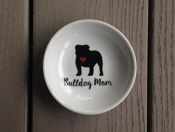 English Bulldog | Ring Dish | Bulldog Mom | Engagement Gift | Ring Holder