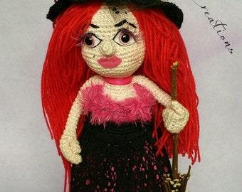 Bonnie Witchy, Halloween crochet pattern