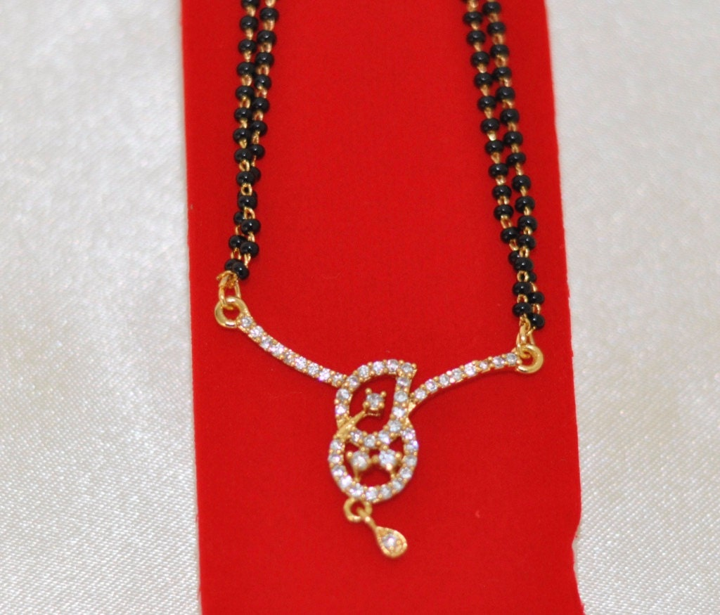Sale 25 discount black beads mangalsutra one gram gold zoom mozeypictures Image collections
