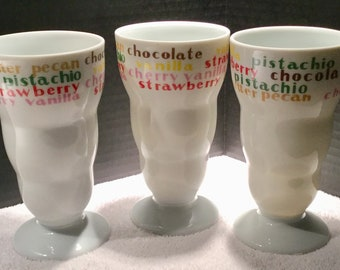 Set of 3 Ice Cream Soda Cups
