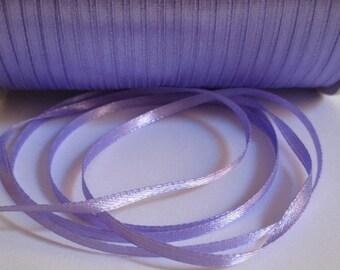 5 m purple 3mm satin ribbon
