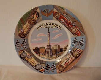 Indianapolis Speedway Collectible Dish featuring Soldiers and Sailors Monument