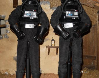 """Star Wars 12"""" 12 inch 1/6 Star Wars Tie Fighter Pilot action figure lot of 2 loose"""