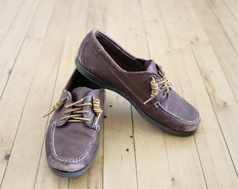 Vintage Bass Boat Shoes - Men's 8 1/2 D or Women's 10 Lace Up Oxfords