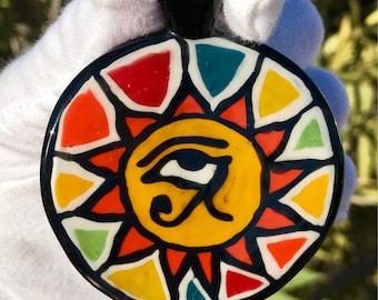 Eye of Horus Glass-Flip Pendant(Handmade)