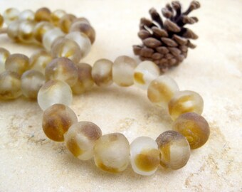 Brown Blend Recycled Glass Beads: World's Most Eco-Friendly Beads! Ghana Beads - African Beads - Wholesale Glass Beads - Made of Bottles 508