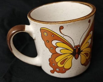 Vintage butterfly mug
