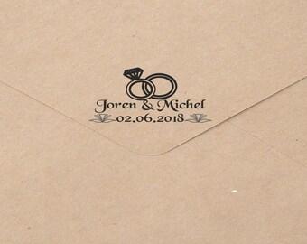 Personalized custom rubber stamp, return address stamp, Wedding Gift , Housewarming Gift, Bridal Shower Gift