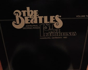 Record The Beatles - Volume two - 1st Live recordings - 1962