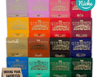Incense Match - Incense Matches - Scented Matches - 16 Scents - Bathroom Matches - Dormroom - Travel - Air Freshener - Stocking Stuffers