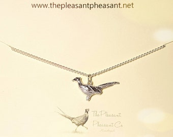 Sterling Silver Pheasant Necklace