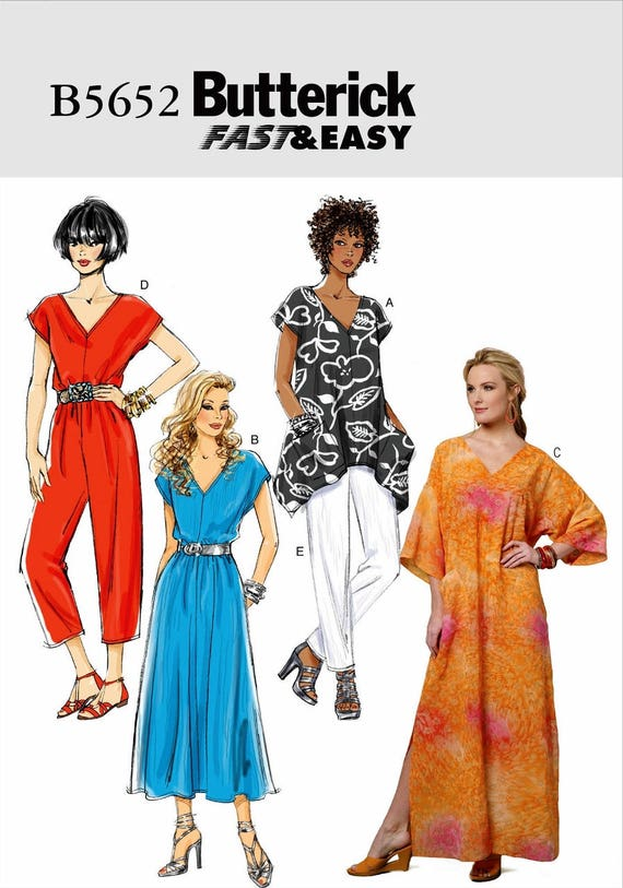 Sewing Pattern Caftan Pattern, Tunic Top Pattern, Jumpsuit Pattern ...