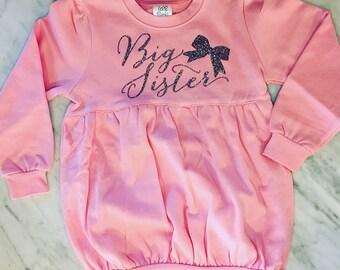 Big Sister Sweatshirt, Big Sister Long Sleeve Shirt, Big Sister Tunic, Toddler Sweatshirt, girls sweatshirt, Monogrammed Sweatshirt