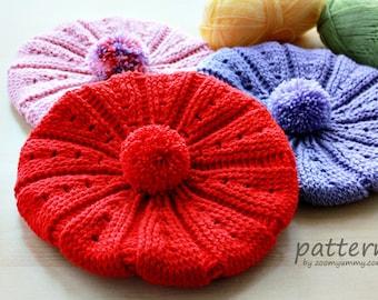 Crochet Pattern - Crochet Beret (Pattern No. 038) - INSTANT DIGITAL DOWNLOAD